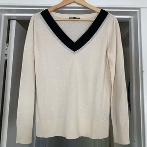 Banana Republic silk cashmere v neck sweater